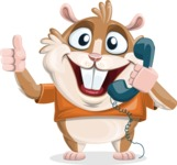 Hamster Cartoon Vector Character AKA Bean McRound - Support