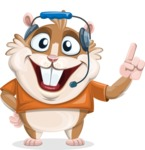 Bean McRound The Smiling Hamster - Support 2