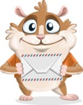 Hamster Cartoon Vector Character AKA Bean McRound - Letter
