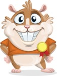 Hamster Cartoon Vector Character AKA Bean McRound - Ribbon