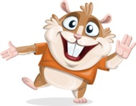 Hamster Cartoon Vector Character AKA Bean McRound - Wave