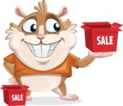 Hamster Cartoon Vector Character AKA Bean McRound - Sale