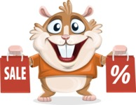 Bean McRound The Smiling Hamster - Sale 2