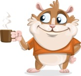 Bean McRound The Smiling Hamster - Coffee