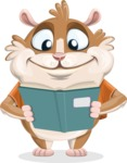 Hamster Cartoon Vector Character AKA Bean McRound - Book 1