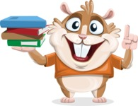 Hamster Cartoon Vector Character AKA Bean McRound - Book 2