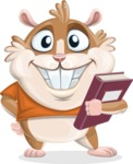 Hamster Cartoon Vector Character AKA Bean McRound - Book 3