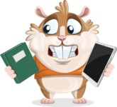 Hamster Cartoon Vector Character AKA Bean McRound - Book and iPad