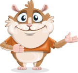 Hamster Cartoon Vector Character AKA Bean McRound - Showcase