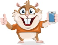 Hamster Cartoon Vector Character AKA Bean McRound - iPhone