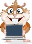 Bean McRound The Smiling Hamster - Laptop 2