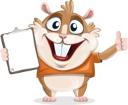 Hamster Cartoon Vector Character AKA Bean McRound - Notepad 1