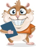 Hamster Cartoon Vector Character AKA Bean McRound - Notepad 2