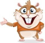 Hamster Cartoon Vector Character AKA Bean McRound - Showcase 2