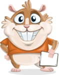 Hamster Cartoon Vector Character AKA Bean McRound - Notepad 4