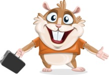 Hamster Cartoon Vector Character AKA Bean McRound - Briefcase 1