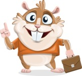 Hamster Cartoon Vector Character AKA Bean McRound - Briefcase 2