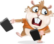 Hamster Cartoon Vector Character AKA Bean McRound - Briefcase 3