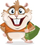 Hamster Cartoon Vector Character AKA Bean McRound - Travel 2