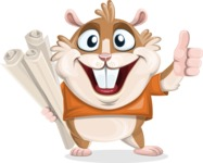 Hamster Cartoon Vector Character AKA Bean McRound - Plans