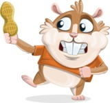 Hamster Cartoon Vector Character AKA Bean McRound - Peanut