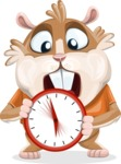 Hamster Cartoon Vector Character AKA Bean McRound - Time is Yours