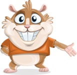 Hamster Cartoon Vector Character AKA Bean McRound - Show