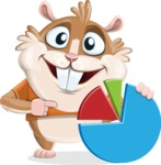 Hamster Cartoon Vector Character AKA Bean McRound - Chart