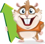 Hamster Cartoon Vector Character AKA Bean McRound - Pointer 1