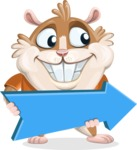 Hamster Cartoon Vector Character AKA Bean McRound - Pointer 2