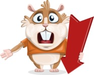 Hamster Cartoon Vector Character AKA Bean McRound - Pointer 3