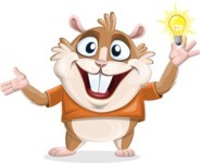 Hamster Cartoon Vector Character AKA Bean McRound - Idea 1