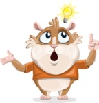 Hamster Cartoon Vector Character AKA Bean McRound - Idea 2