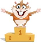 Hamster Cartoon Vector Character AKA Bean McRound - On Top
