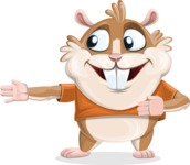 Hamster Cartoon Vector Character AKA Bean McRound - Show 2