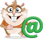 Hamster Cartoon Vector Character AKA Bean McRound - Email