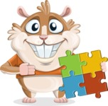 Hamster Cartoon Vector Character AKA Bean McRound - Puzzle