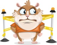 Hamster Cartoon Vector Character AKA Bean McRound - Under Construction 2