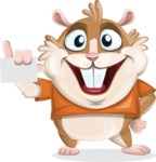 Hamster Cartoon Vector Character AKA Bean McRound - Sign 1