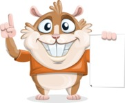 Bean McRound The Smiling Hamster - Sign 2