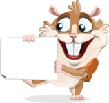 Hamster Cartoon Vector Character AKA Bean McRound - Sign 4