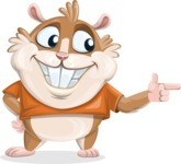 Hamster Cartoon Vector Character AKA Bean McRound - Point