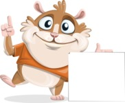 Hamster Cartoon Vector Character AKA Bean McRound - Sign 7