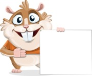 Hamster Cartoon Vector Character AKA Bean McRound - Sign 8