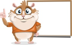 Hamster Cartoon Vector Character AKA Bean McRound - Presentation 3