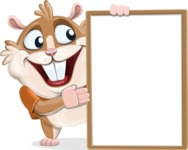 Hamster Cartoon Vector Character AKA Bean McRound - Presentation 4