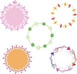 Vector Hand Drawn Elements Mega Bundle - Colorful Hand Drawn Circle Designs Vector Set