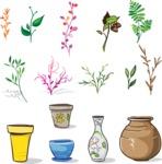 Vector Hand Drawn Elements Mega Bundle - Vector Floral Elements Design Assets