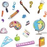 Vector Hand Drawn Elements Mega Bundle - School Hand Drawn Items Vector Education Graphics Set