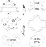 Vector Hand Drawn Elements Mega Bundle - Graphic 53